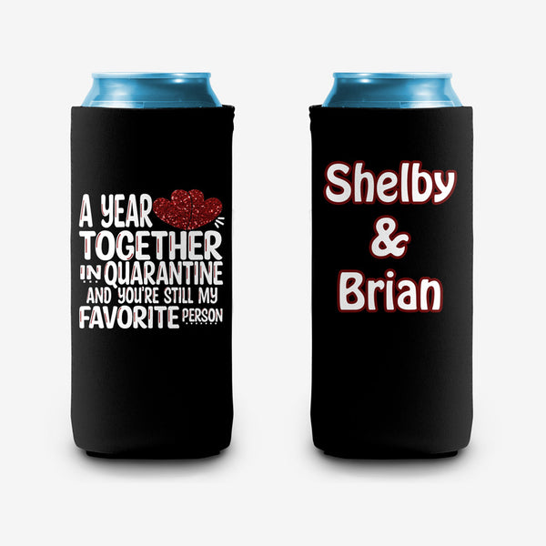 A Year in Quarantine Personalized Can Hugs koozies