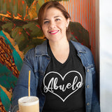 Abuela in Heart Tee Shirts black vee neck shirt
