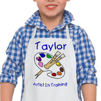 Apron - Artist in Training Kids Personalized Apron