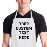 Men's grilling apron with your custom text