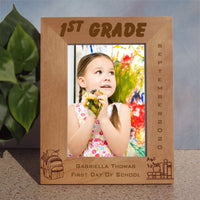 Personalized Wood Back to school Picture Frame