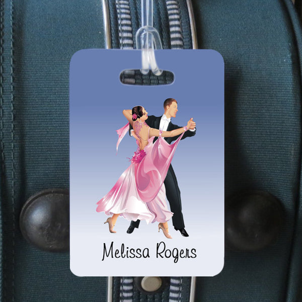 Ballroom theme luggage tag