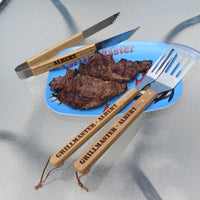 Barbecue Utensil Set -  Personalized Fork, Tong and Spatula