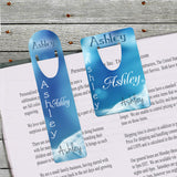 Personalized Bookmark Blue Haze Design With Your Name