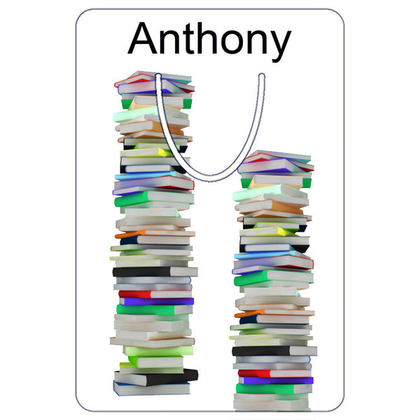 Bookmarks Tower of Books Design Personalized With Any Name