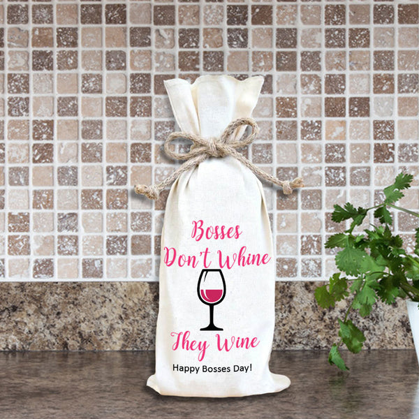 Bosses Day custom Wine Bottle Gift Bag