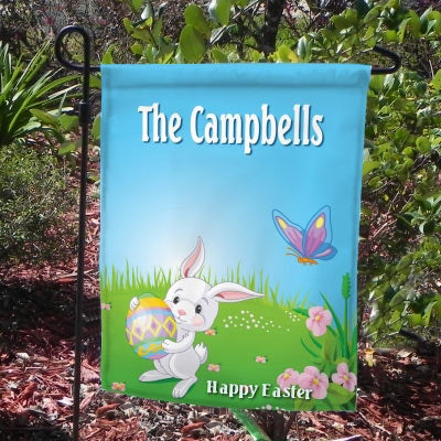 Custom Printed Happy Easter Bunny Yard Flag