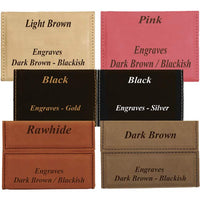 available leatherette business card cover colors