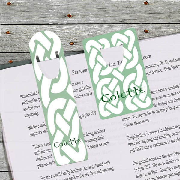 Celtic Knot Bookmarks available in two different shapes and sizes