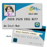 Child's fake credit card for play shopping