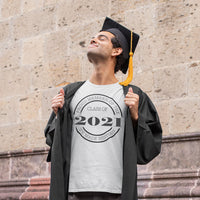 Class of 2021 made history tee shirt gray with black design