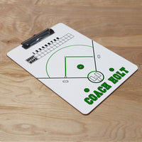 Personalized Clipboards with Baseball Diamond, inning score card and personalized with any name