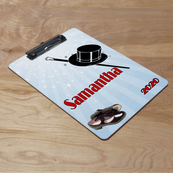 Tap Dance Clipboard 9 x 12.5 with any custom text