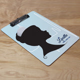 Nurse silhouette design clipboard