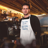 Any saying or funny text can be printed on a personalized apron