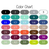 background and text color choice chart