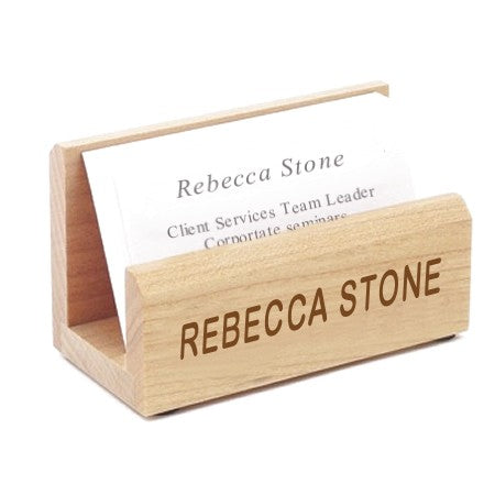 Business Card Holders Wood Engraved with any name