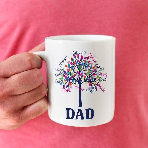Family Tree Mug with Dad as the Root of the Family