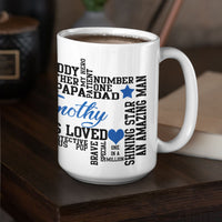 Dad Qualities Word Art Personalized Mug