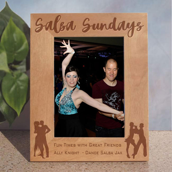 Tall orientation 4x6 inch Latin Dance Picture Frame