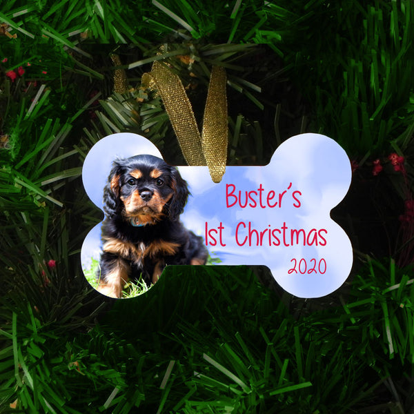 Dog Bone Christmas Ornament Personalized