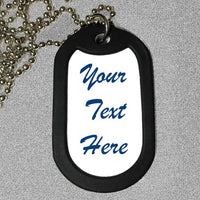 side 2 (text side) of dog tag