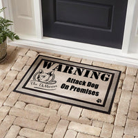Warning Guard Dog On Premises Personalized DoorMat