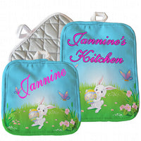 Easter Bunny Pot Holders Personalized With Your Name
