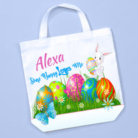 customize this cute Easter Egg tote bag with any name