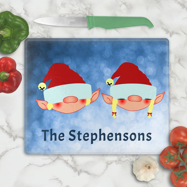 Elf Couple Cutting Board