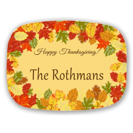 Fall Leaves Personalized Serving Platters