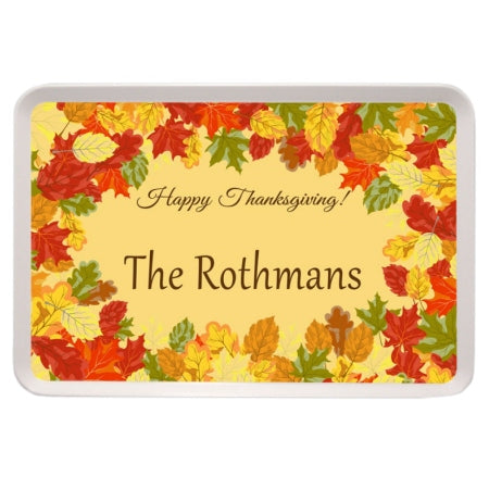Fall Leaves Personalized Serving Tray