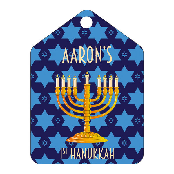 First Hanukkah Personalized Ornament or Gift Tag
