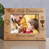 communion picture frame personalized wide photo