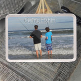 Dad & Son fishing photo on a serving tray