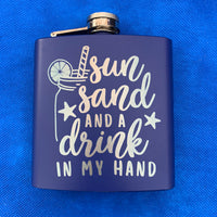 stainless steel flask coated blue