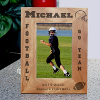 custom football frame for tall photos