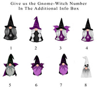 Choose your gnome witch or warlock design for the custom tote bag