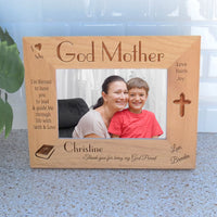 Custom I love my Godmother picture frame for wide photos