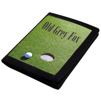 Golf Green design with ball and hole and any text