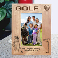 Golfer's Photo Frame for Tall Pictures
