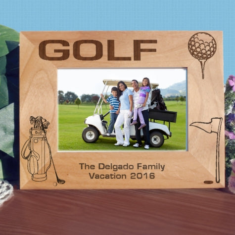 Custom Golf Picture Frame for Wide Pictures