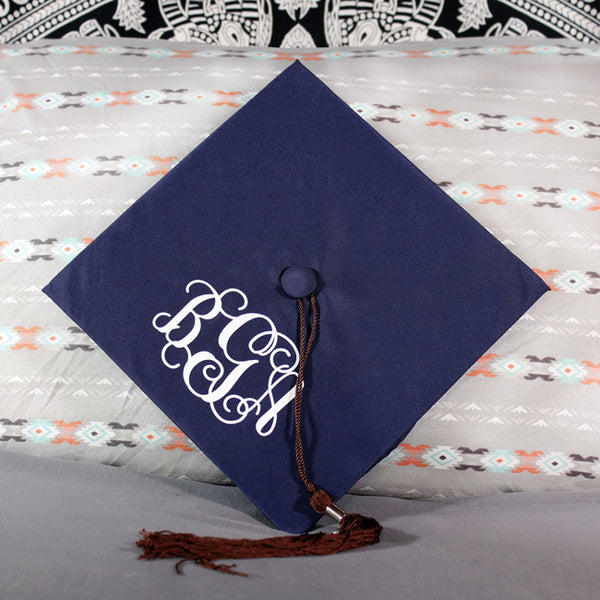 Graduation Cap Monogram Decal