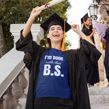 Done With BS Graduation Tee Shirt Navy