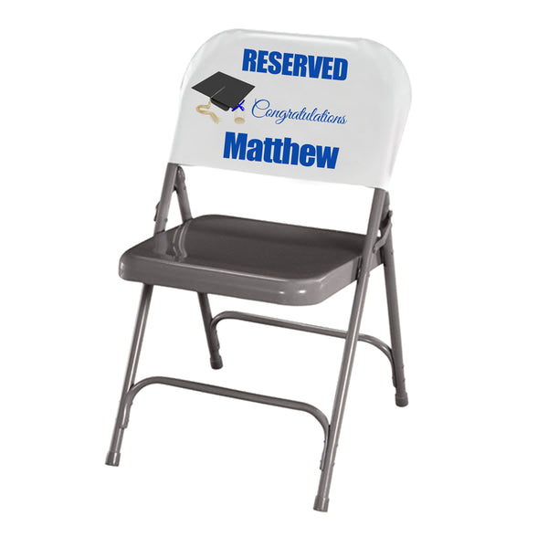 Reserved for the Graduate Personalized Chair Back Cover