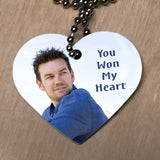 photo heart shaped dog tag with your special someones photo
