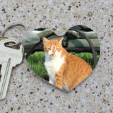 pictures of your pet are great on a heart shaped key ring