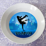 personalized hip hop dancer bowl with any name