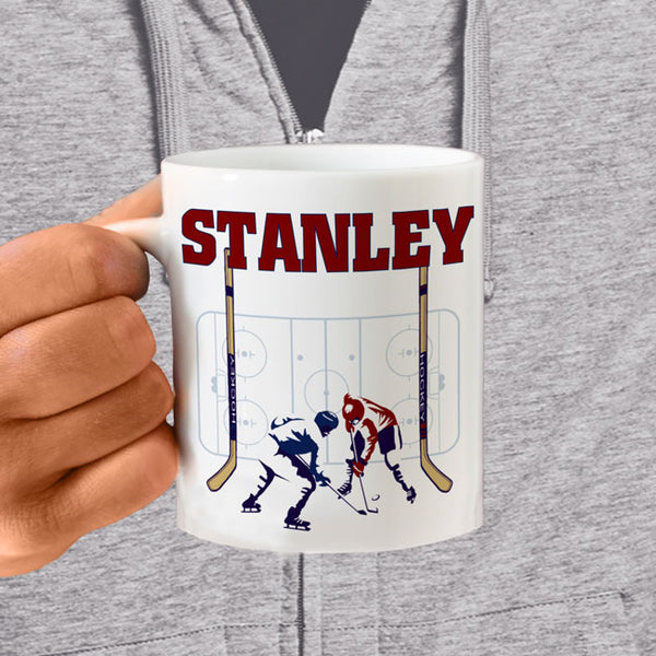 Hockey Rink Personalized Coffee Mugs