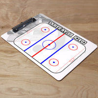 Hockey Play by Play Clipboard shown with flat sports clip